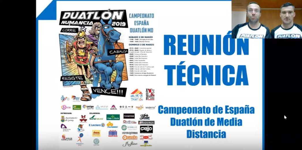 Reunión técnica // #FETRINumancia Campeonato de España Duatlón MD