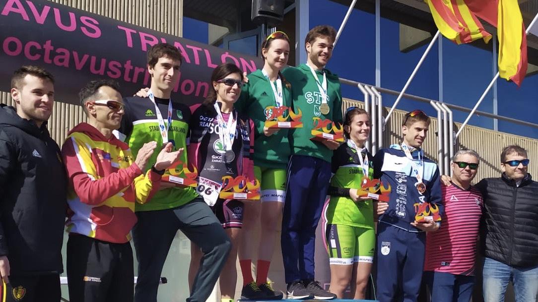 Jorge Tolosa y Cristina Ara campeones de Aragón de Duatlón Sprint 2020