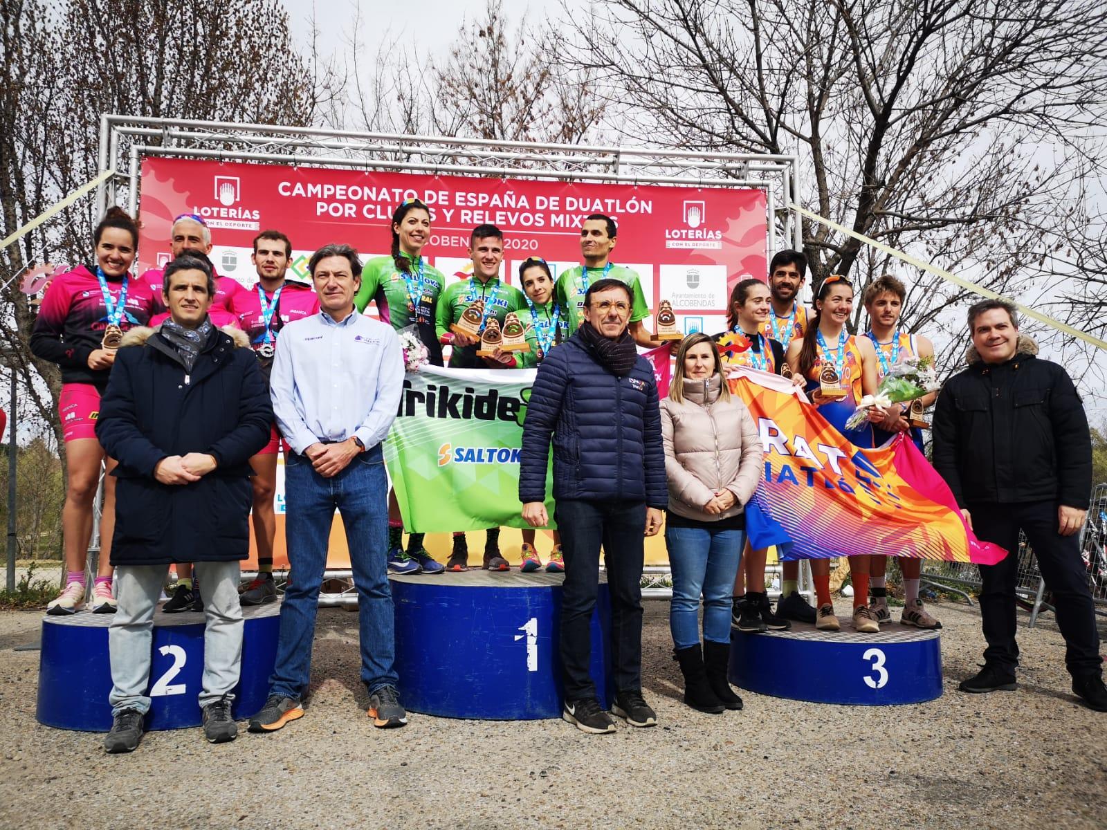 Saltoki Trikideak Campeones de España de Duatlón por Relevos Mixtos