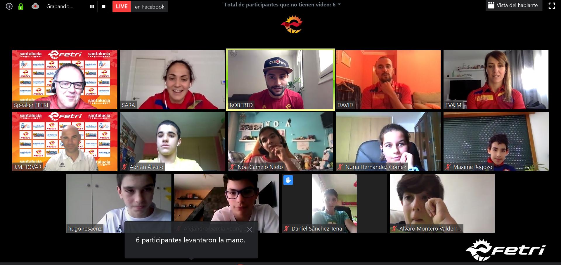 Experiencia y Juegos en la Jornada On Line de Triatlón Escolar FETRI