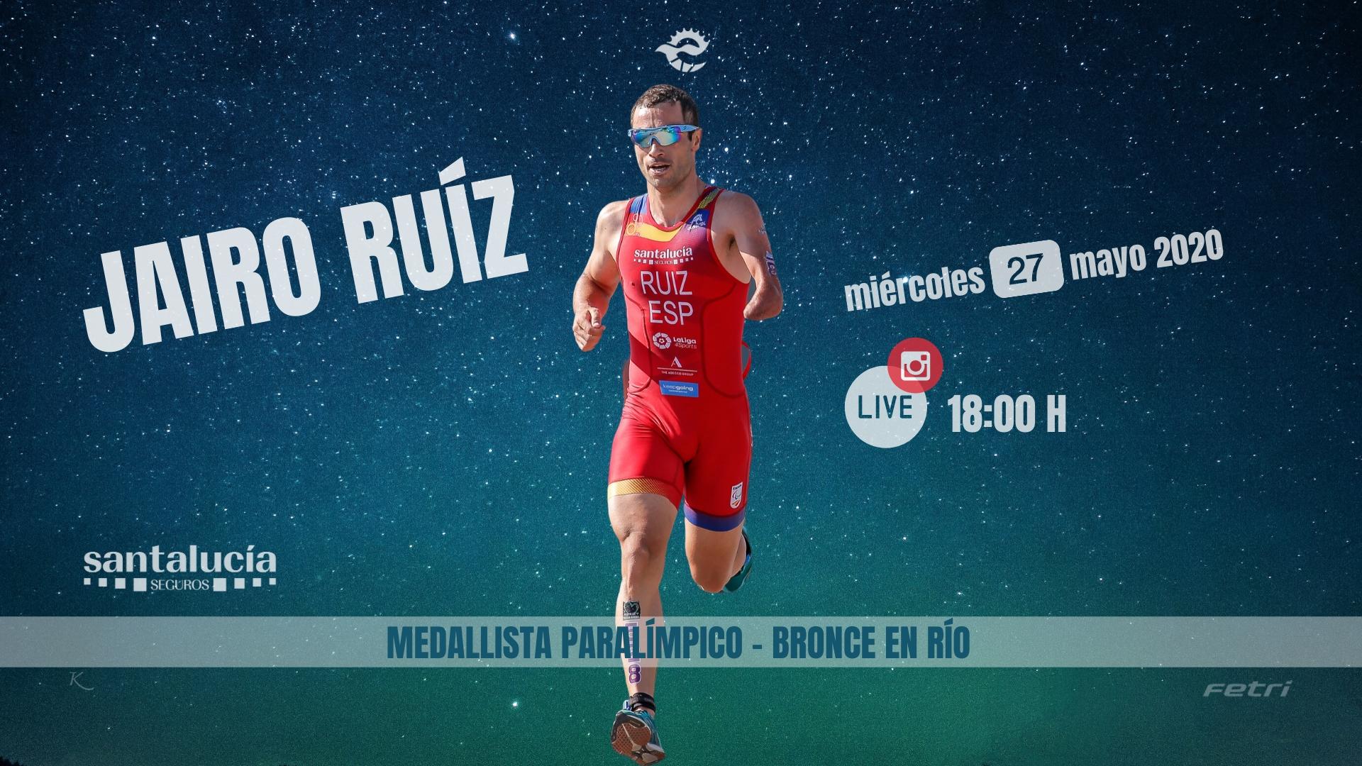 Jairo Ruíz, medallista paralímpico en Río, protagonista este miércoles en el Intagram Live