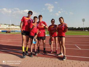 El grupo de tecnificación de la Federación Extremeña de Triatlón se concentra para la vuelta a la competición