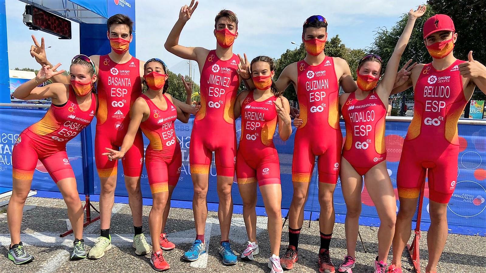 España copa los dos podios de la Copa de Europa de Triatlón Junior celebrada en Belgrado