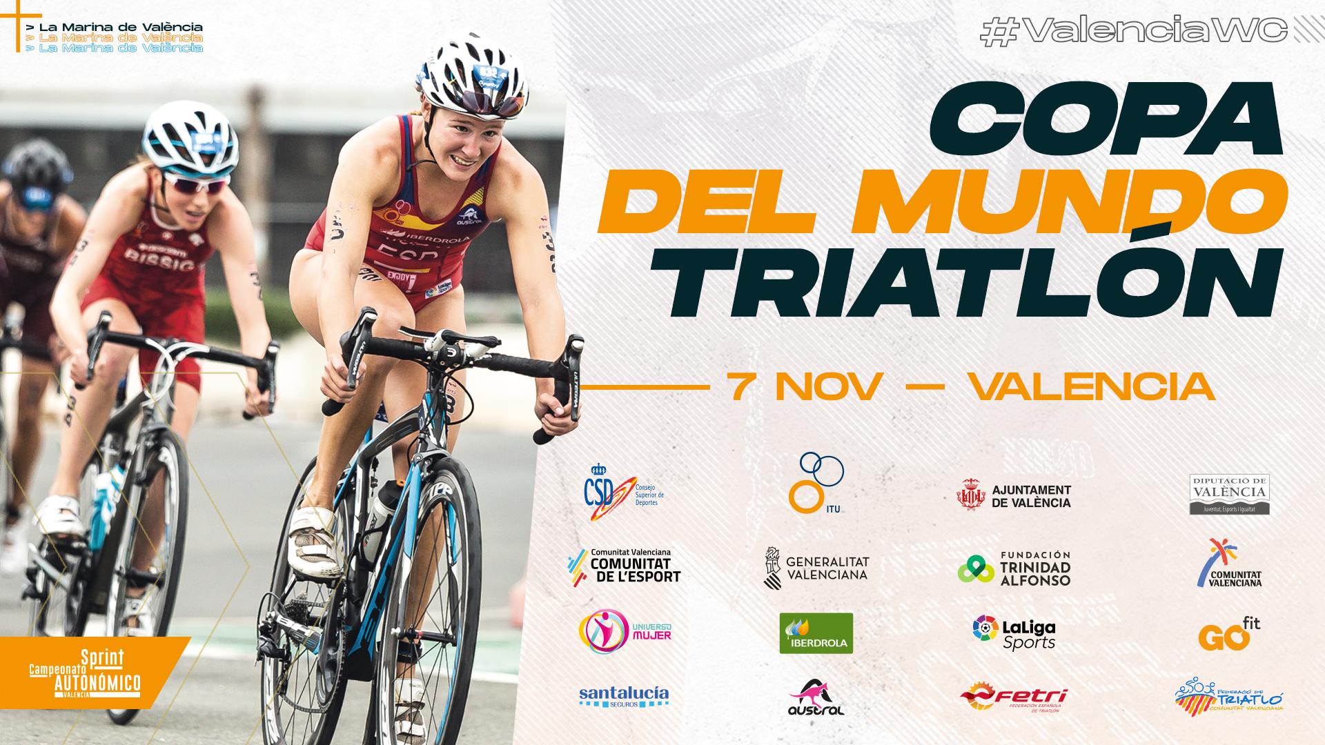 Valencia acogerá el 7 de noviembre la última prueba de la Copa del Mundo de Triatlón en 2020