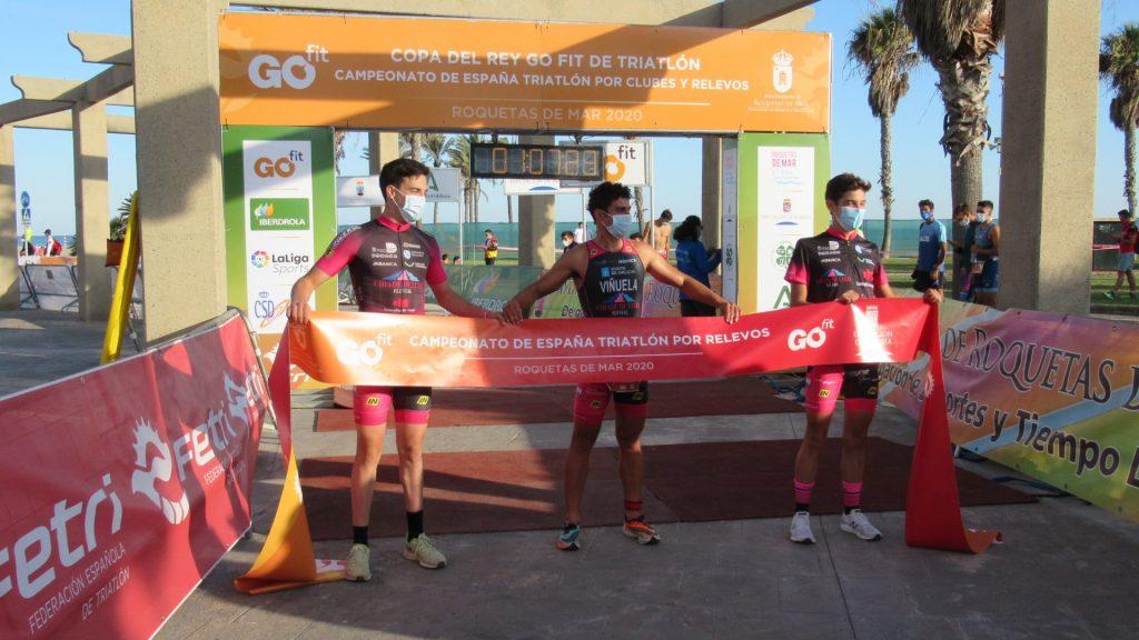 Cidade de Lugo Fluvial campeón de España de Triatlón por Clubes y por Relevos en Roquetas de Mar