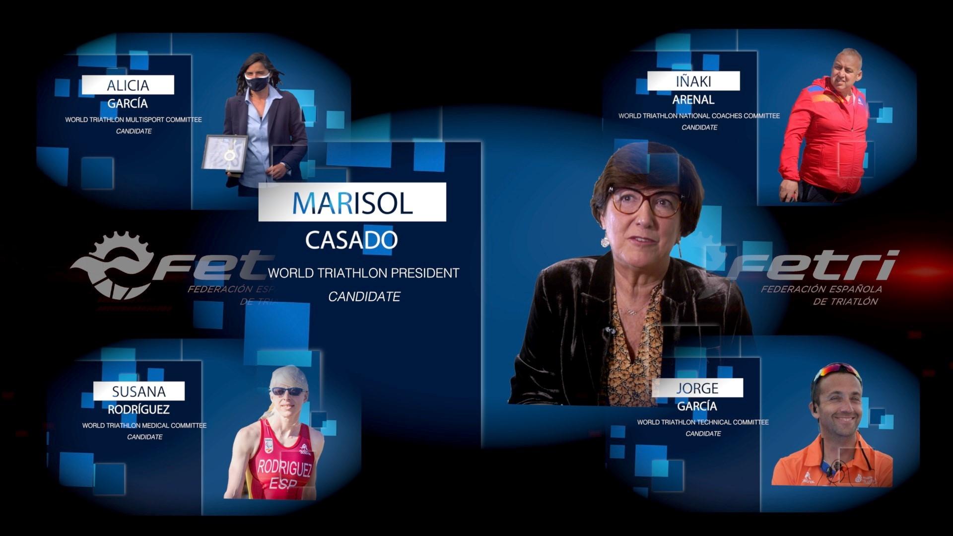 Candidatura España Elecciones World Triathlon 2020 – Marisol Casado