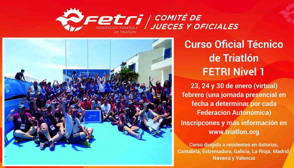 Curso de Oficiales Técnicos de Triatlón FETRI Nivel 1 para ocho Comunidades Autónomas
