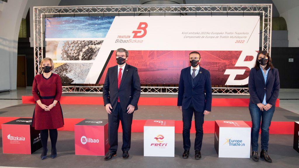 BILBAO BIZKAIA presenta el Campeonato de Europa Multideporte de Triatlón 2022