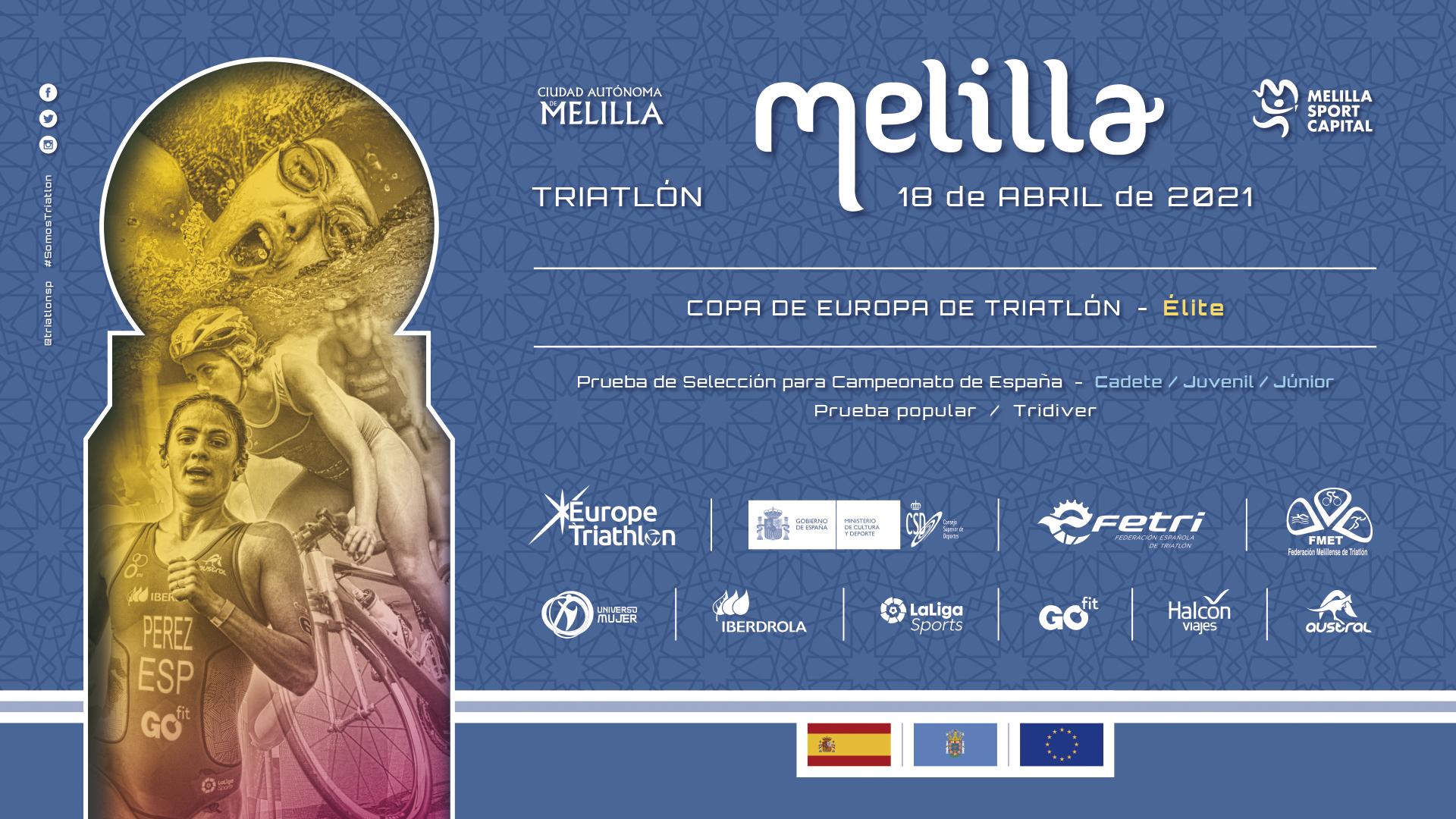 Arranque español para la Copa de Europa de Triatlón en Melilla el próximo 18 de abril