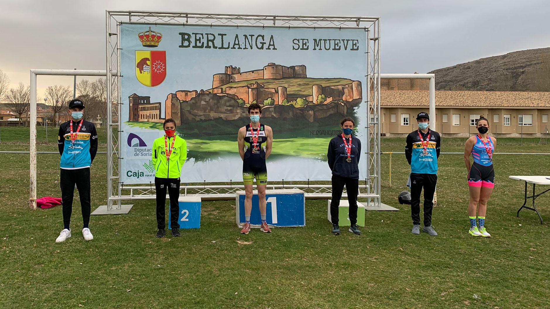 Maddi Marquet y Fernando Zorrilla ganan en Berlanga de Duero el primer clasificatorio para el Campeonato de España de Duatlón 2021