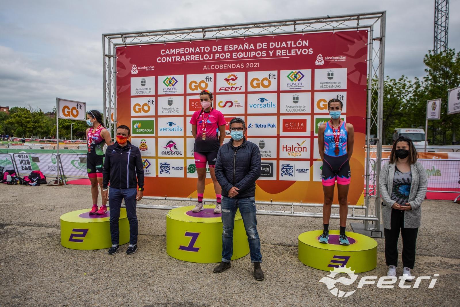 Cidade de Lugo Fluvial y Saltoki Trikideak ganan el Campeonato de España de Duatlón CRE élite en Alcobendas