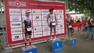 Laura Gómez y Gustavo Rodríguez ganan el Half Triathlon Pamplona-Iruña, primera prueba de la Copa de España de Triatlón MD y LD 2021