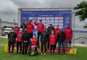 Buen balance de medallas españolas en la Copa del Mundo de Paratriatlón A Coruña 2021