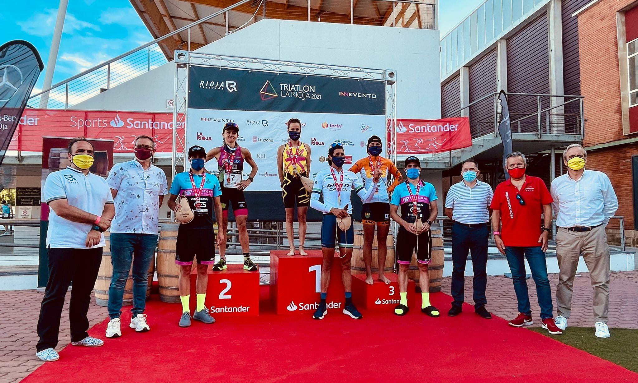 Eva Ledesma y Gustavo Rodríguez ganan en el Triatlón de La Rioja, tercera cita de la Copa de España de Triatlón MD y LD