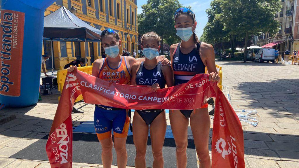 Yaiza Saiz y Diego Méntrida ganan el Triatlón de Portugalete, último clasificatorio para el nacional Sprint