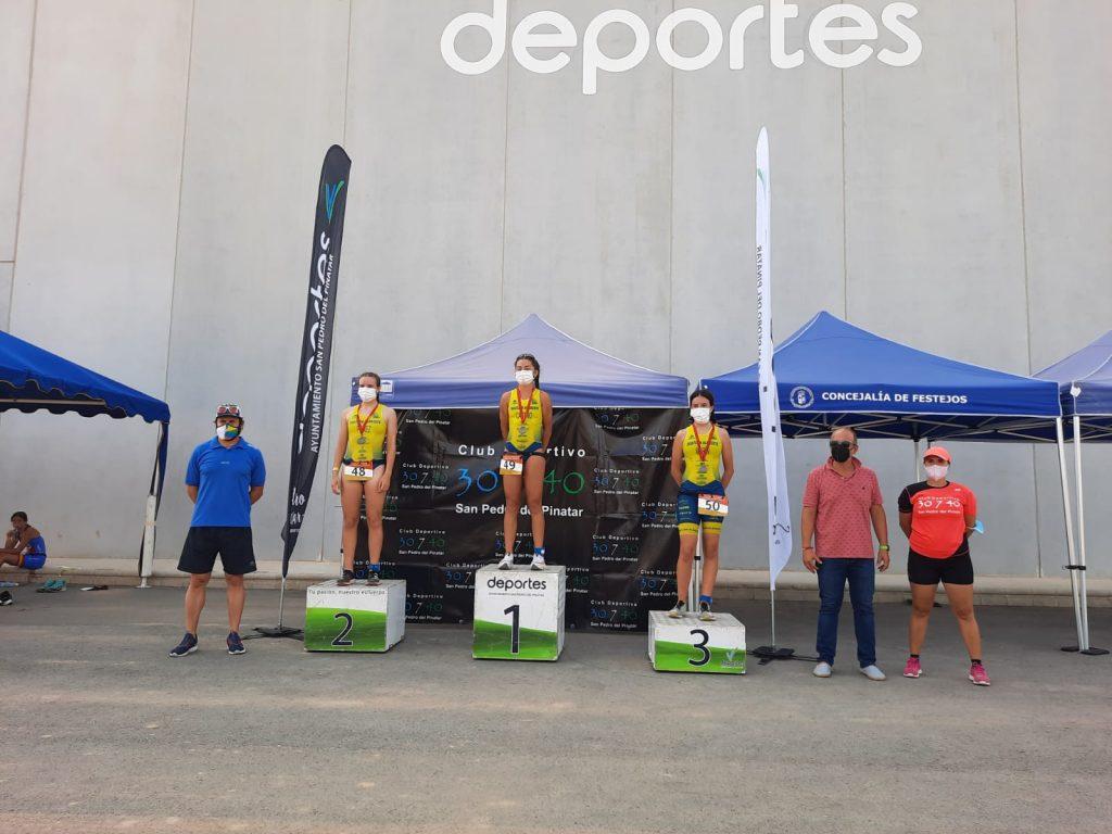 Disputado el Triatlón de Menores de San Pedro del Pinatar, clasificatorio en Murcia para el Nacional de Triatlón Cadete y Juvenil