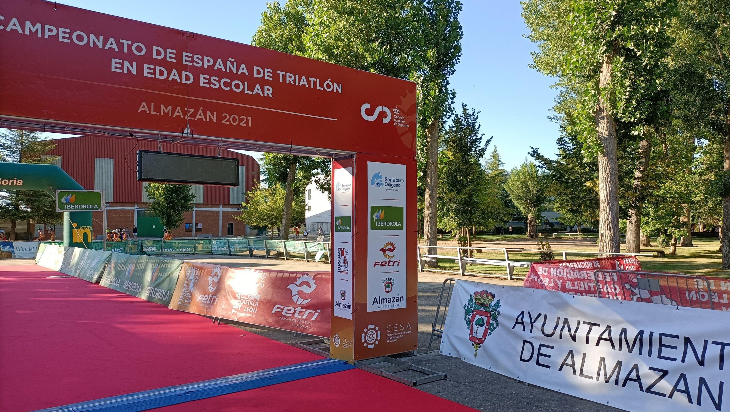 El regreso del Campeonato de España Escolar abre el telón del fin de semana de Triatlón en Almazán