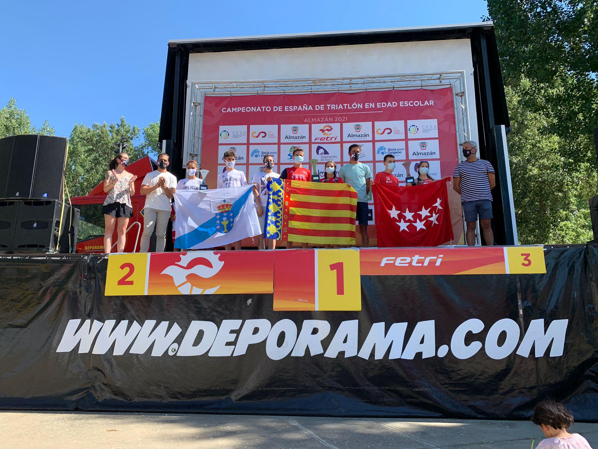 Cataluña y Comunidad Valenciana ganan los Campeonatos de España de Triatlón en Edad Escolar por Autonomías celebrados en Almazán