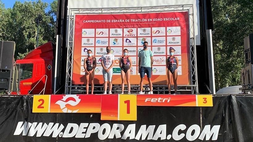Natalia Hidalgo y Sergio Baxter ganan el Triatlón de Almazán, primer clasificatorio para el campeonato de España distancia olímpica