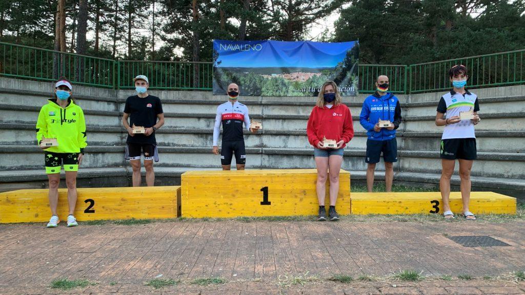 Anna Rovira e Ignacio Cabrera lideran la Media Distancia de triatlón en Navaleno