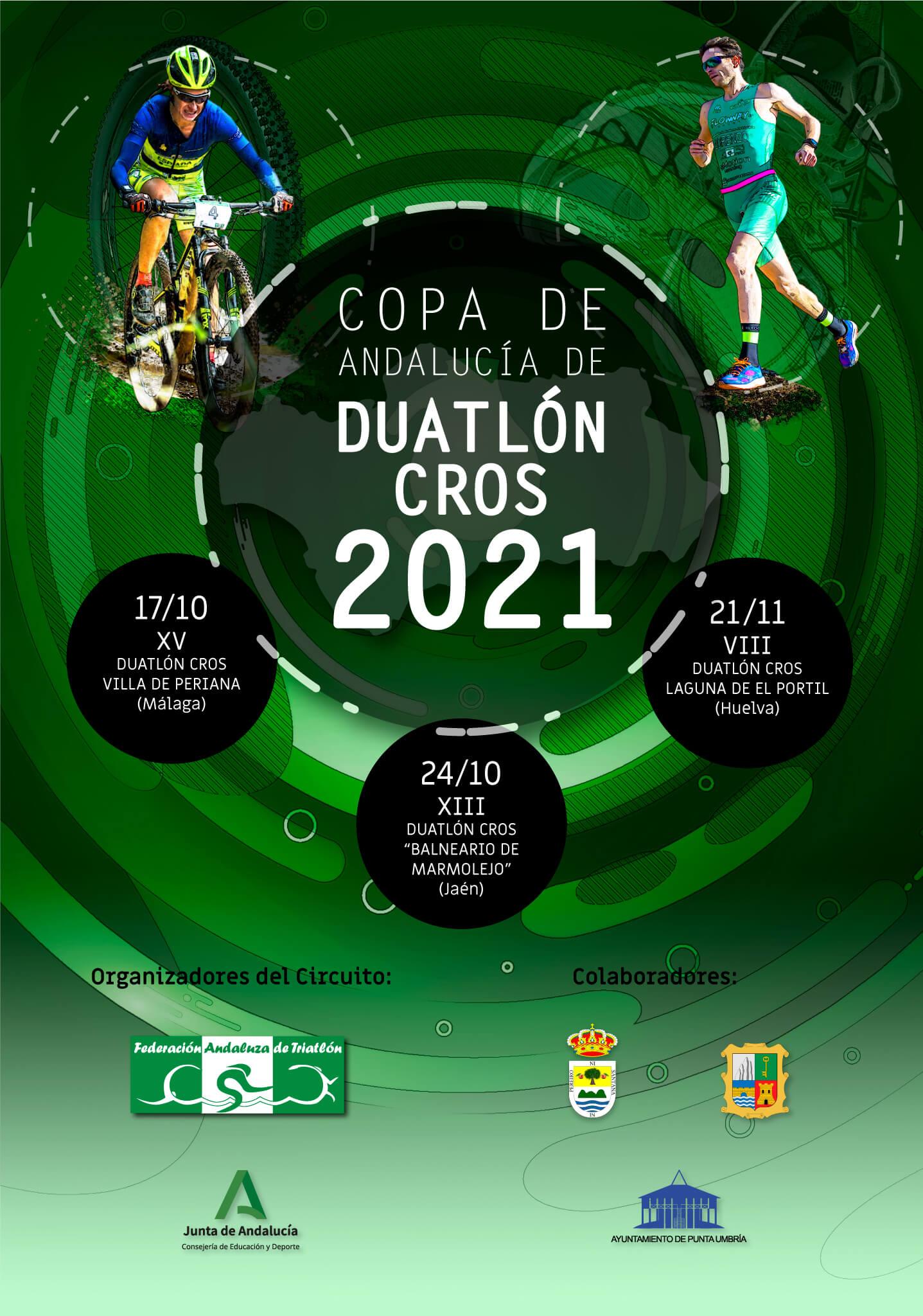 La Copa de Andalucía de Duatlón Cros 2021 contará finalmente con tres pruebas