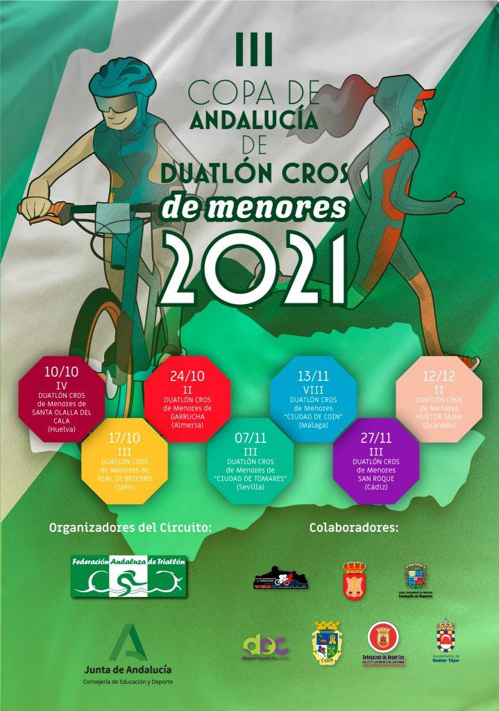 La localidad onubense de Santa Olalla del Cala dará el pistoletazo de salida a la III Copa de Andalucía de Duatlón Cros de Menores 2021 el próximo 10 de octubre