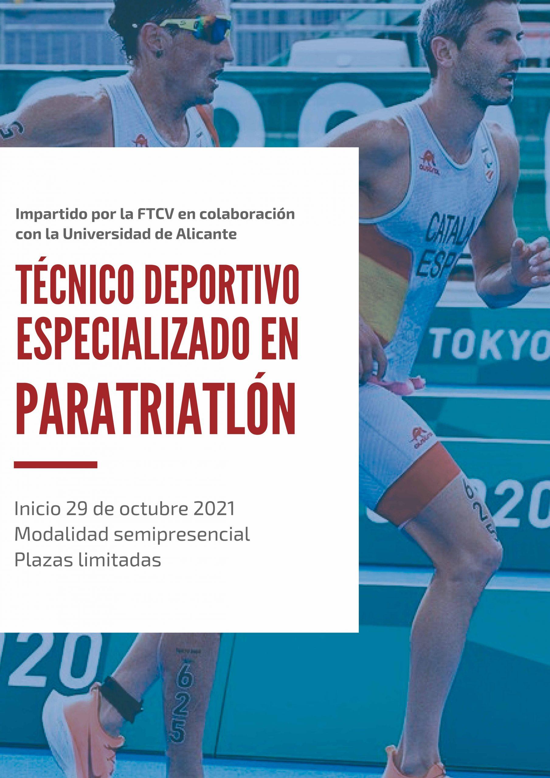 La Federació de Triatló de la Comunitat Valenciana abre, en colaboración con la Universidad de Alicante, la 1ª edición del Curso de Técnico Deportivo especializado en Paratriatlón