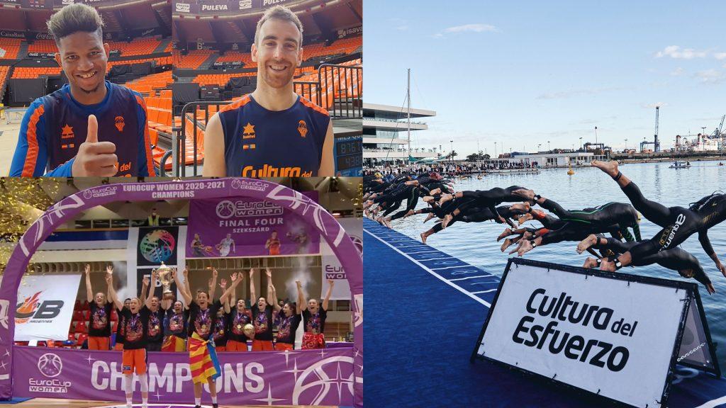 Asistencia de oro del Valencia Basket al Campeonato de Europa de Triatlón València 2021